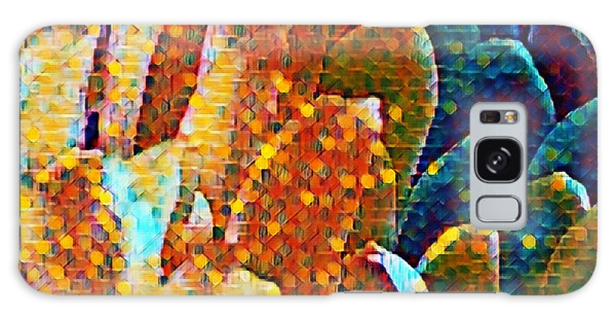 Photo Art Galaxy S8 Case featuring the mixed media Abstract Petals by Bonnie Bruno