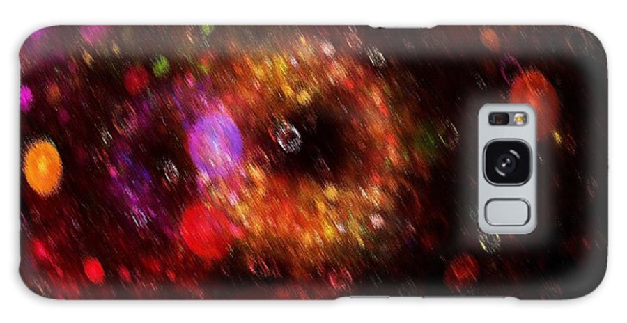 Color Galaxy S8 Case featuring the painting Abstract Rain by Steve K