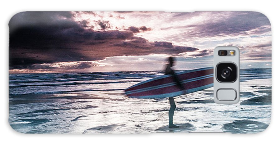 Colour Galaxy S8 Case featuring the photograph Abstract Surfer by Kevin Kothandaraman