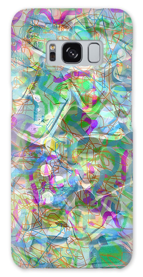 Abstract Galaxy S8 Case featuring the photograph ract with Shapes and Squiggles by Nareeta Martin