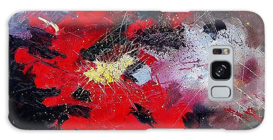 Abstract Galaxy S8 Case featuring the painting Abstract070406 by Pol Ledent