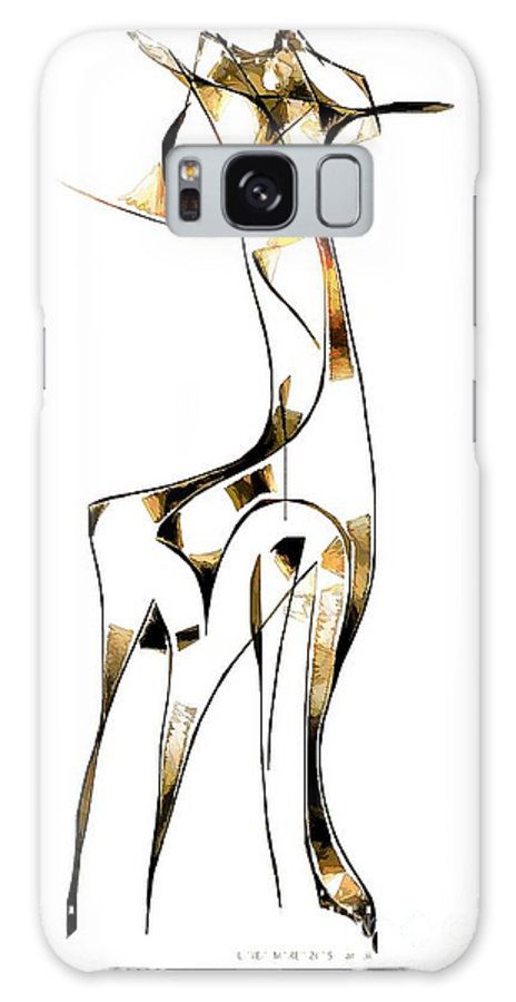 Abstraction Galaxy S8 Case featuring the digital art Abstraction 2916 by Marek Lutek