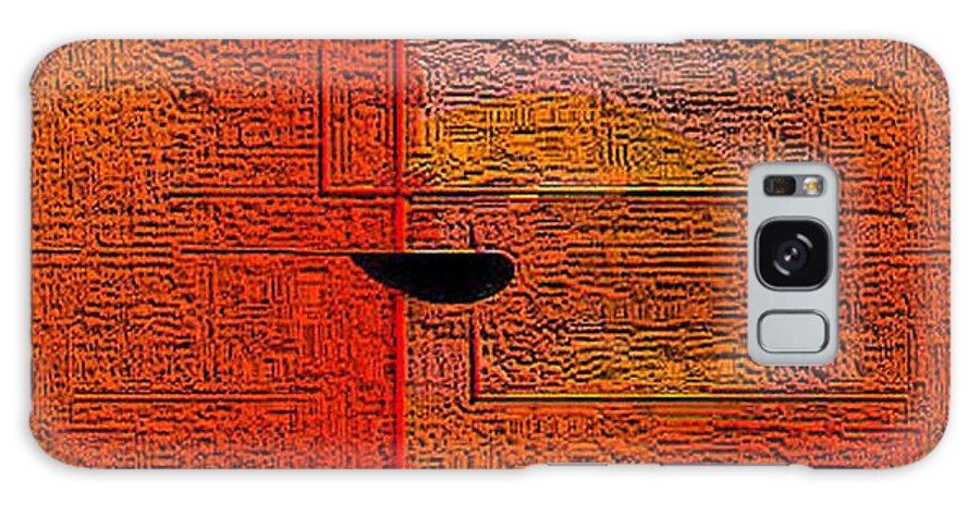 Digital Galaxy Case featuring the digital art Abstrakt In Orange by Ilona Burchard