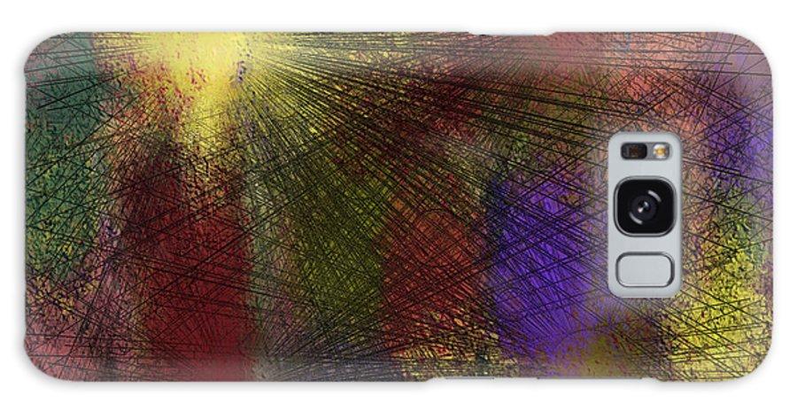 Digital Galaxy Case featuring the digital art Abstraktion In Farben by Ilona Burchard