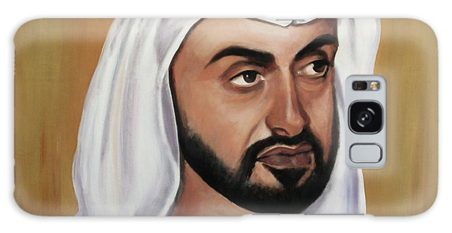Abu Dhabi Galaxy S8 Case featuring the painting Abu Dhabi Crown Prince by Fiona Jack