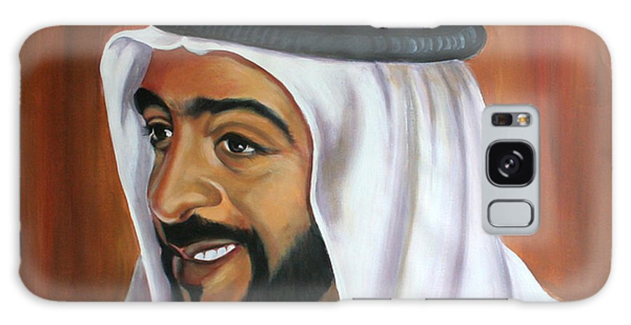 Portrait Galaxy Case featuring the painting Abu Dhabi by Fiona Jack
