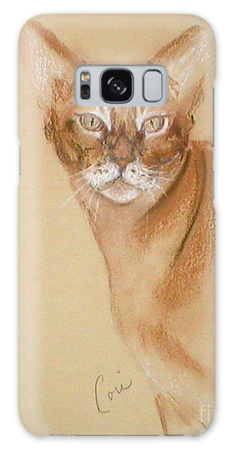 Pastel Galaxy S8 Case featuring the drawing Abyssinian by Cori Solomon