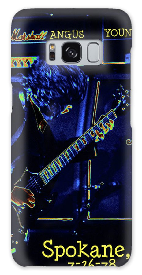 Ac Dc Galaxy S8 Case featuring the photograph Ac Dc Electrifies The Blues In Spokane by Ben Upham