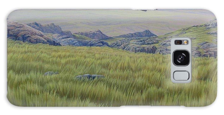 Grass Galaxy Case featuring the painting Achala Landscape by Juan Enrique Marquez