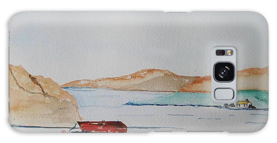 Ireland West Of Ireland Seaview Peaceful Day Galaxy S8 Case featuring the painting Achill II by Roger Cummiskey