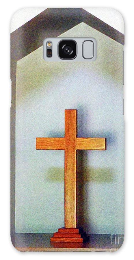 Shadows Galaxy S8 Case featuring the photograph Across A Cross by Joy Tudor