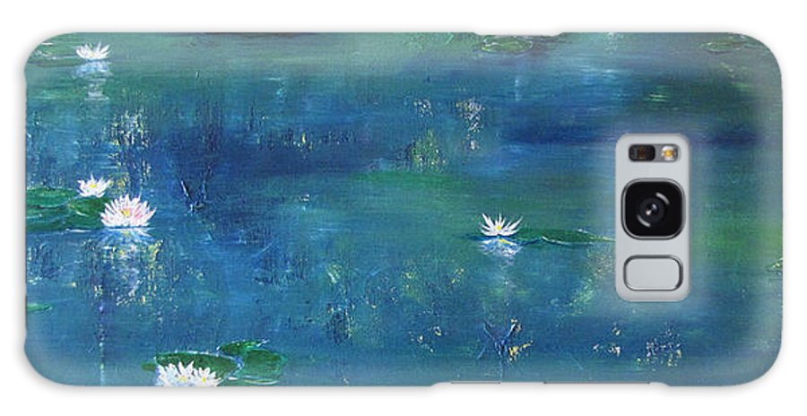 Lily Galaxy S8 Case featuring the painting Across The Lily Pond by Gary Smith