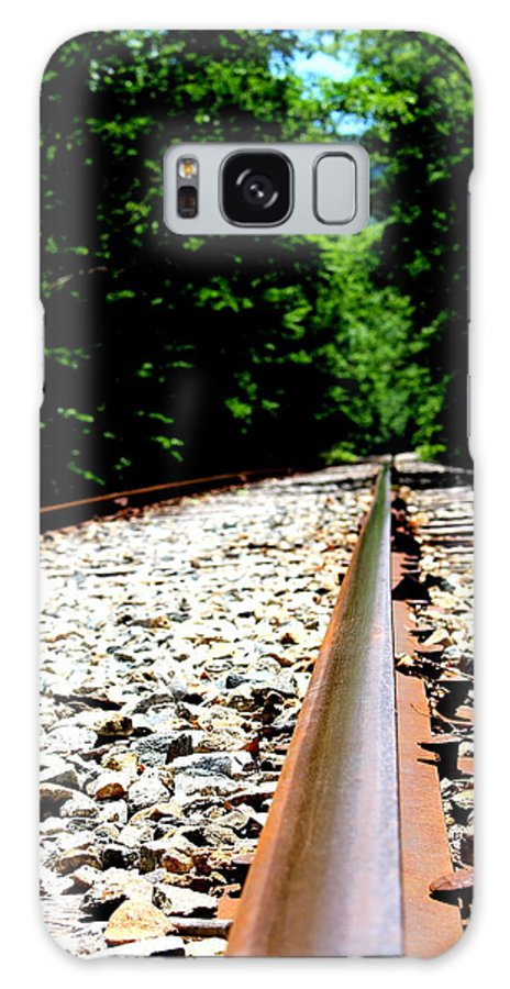 Train Tracks Galaxy S8 Case featuring the photograph Across The Tracks by Amanda Young