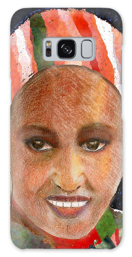 Woman Galaxy S8 Case featuring the digital art Adaeze by Arline Wagner