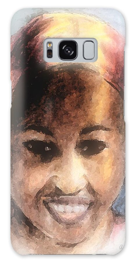 Woman Galaxy S8 Case featuring the digital art Adaeze II by Arline Wagner