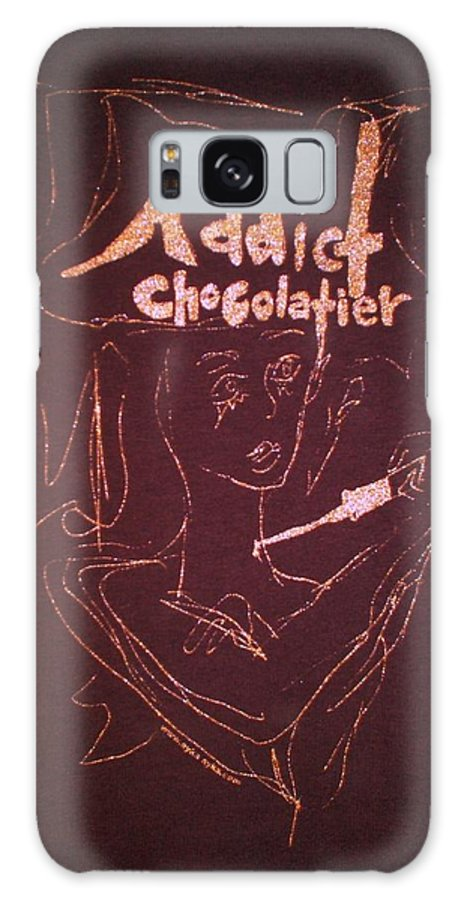 Dark Chocolate Galaxy S8 Case featuring the drawing Addict Chocolatier by Ayka Yasis