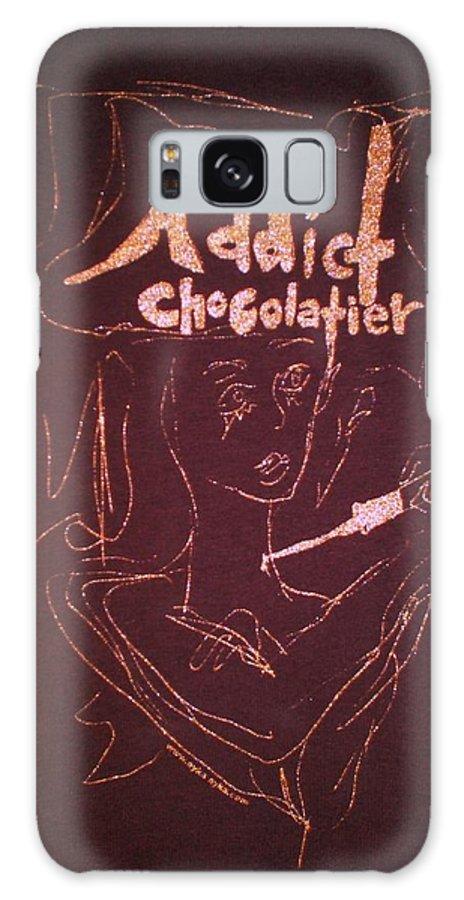 Dark Chocolate Galaxy S8 Case featuring the drawing Addict Chocolatier by Ayka Yasis