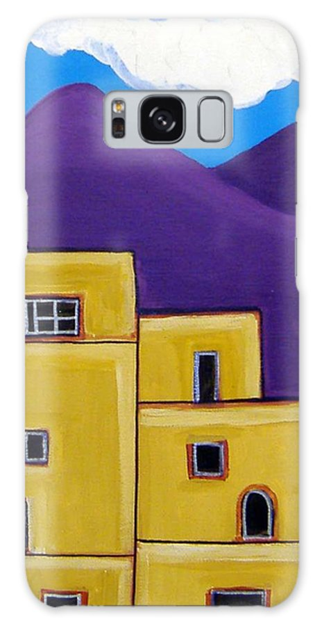 Adobe Galaxy S8 Case featuring the painting Adobe Village by Anggelyka Apostle