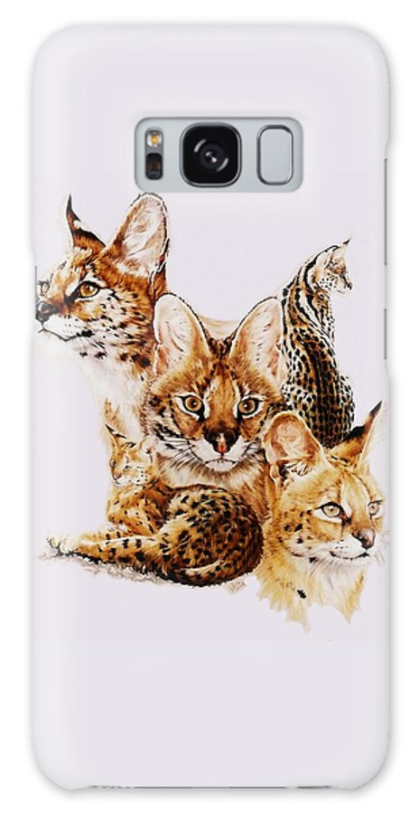 Serval Galaxy S8 Case featuring the drawing Adroit by Barbara Keith