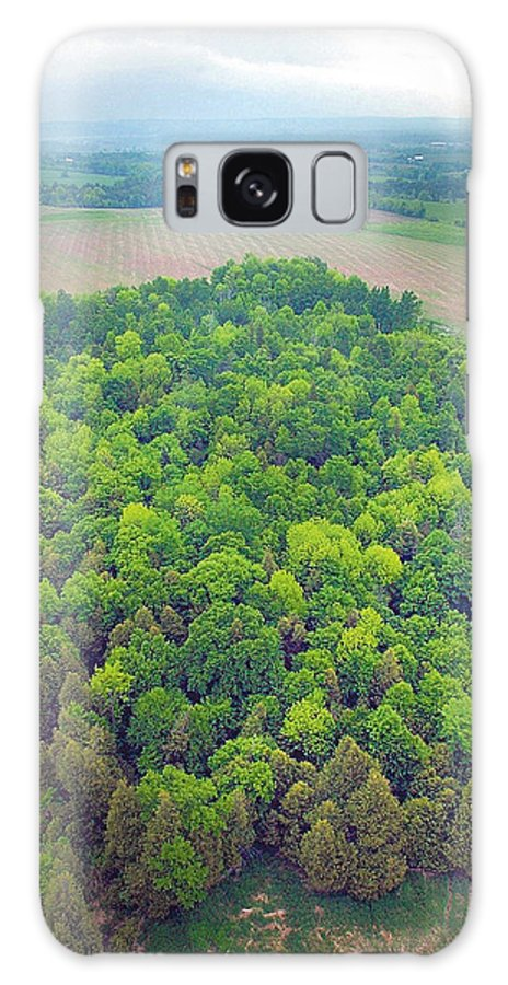 Aerial Galaxy Case featuring the photograph Aerial Forest by Steve Somerville