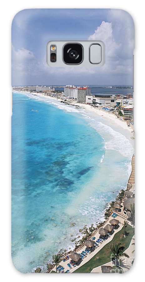 Aerial Galaxy S8 Case featuring the photograph Aerial Of Cancun by Bill Bachmann - Printscapes
