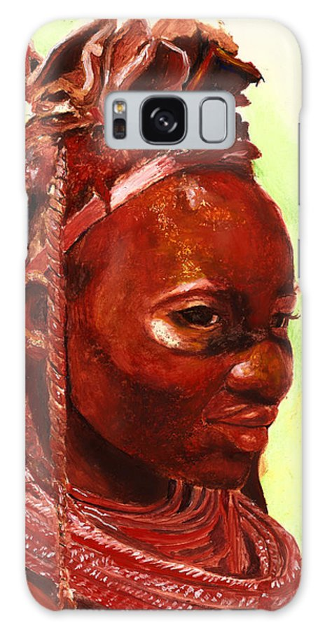 People Portrait Galaxy S8 Case featuring the painting African Beauty by Portraits By NC