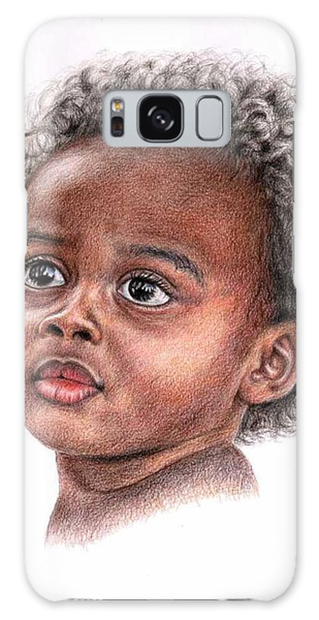 Child Galaxy S8 Case featuring the drawing African Child by Nicole Zeug