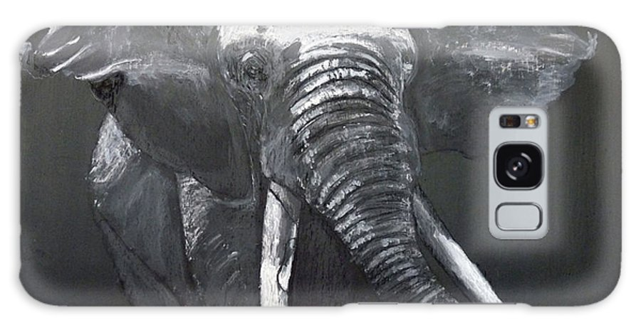 Elephant Galaxy S8 Case featuring the painting African Elephant by Richard Le Page