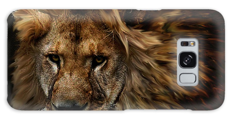 Lion Galaxy S8 Case featuring the mixed media African Lion by G Berry