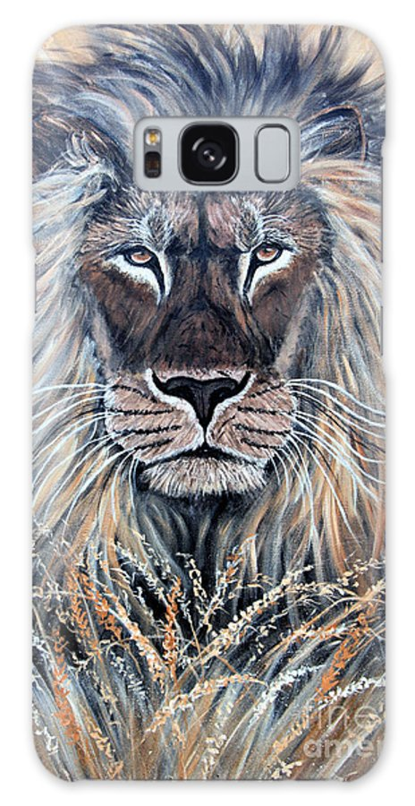 Lion Galaxy S8 Case featuring the painting African Lion by Nick Gustafson
