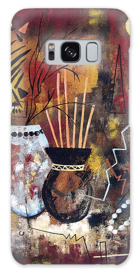 Abstract Galaxy S8 Case featuring the painting African Perspective by Ruth Palmer