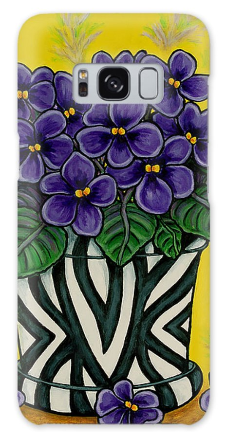 Violets Galaxy Case featuring the painting African Queen by Lisa Lorenz