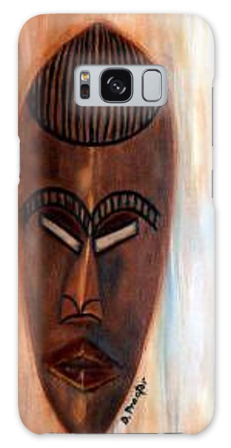 African Galaxy S8 Case featuring the painting African Warrior by Donna Proctor