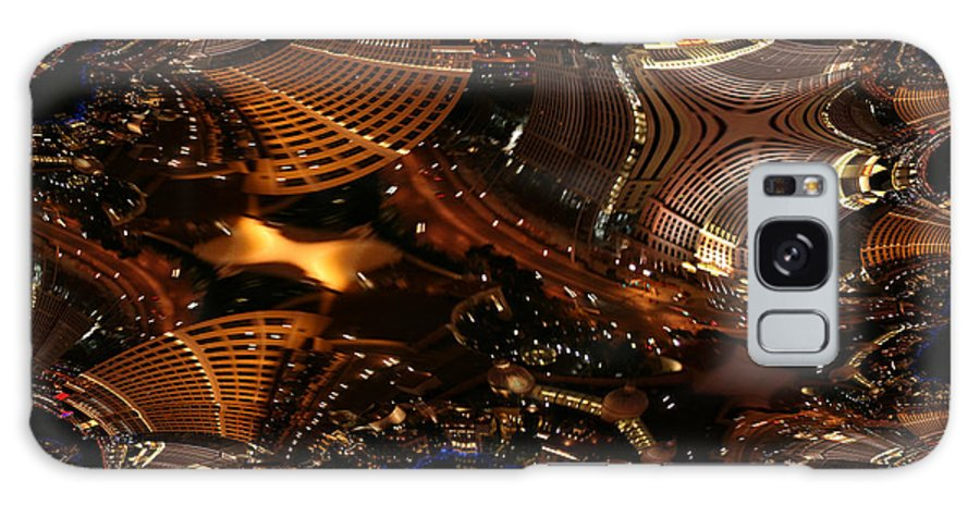 Las Vegas City The Strip Night Photograph Belagio Paris Caesars Palace Night Life Galaxy S8 Case featuring the photograph After A Night In Vegas by Andrea Lawrence