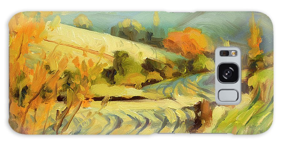 Country Galaxy S8 Case featuring the painting After Harvest by Steve Henderson