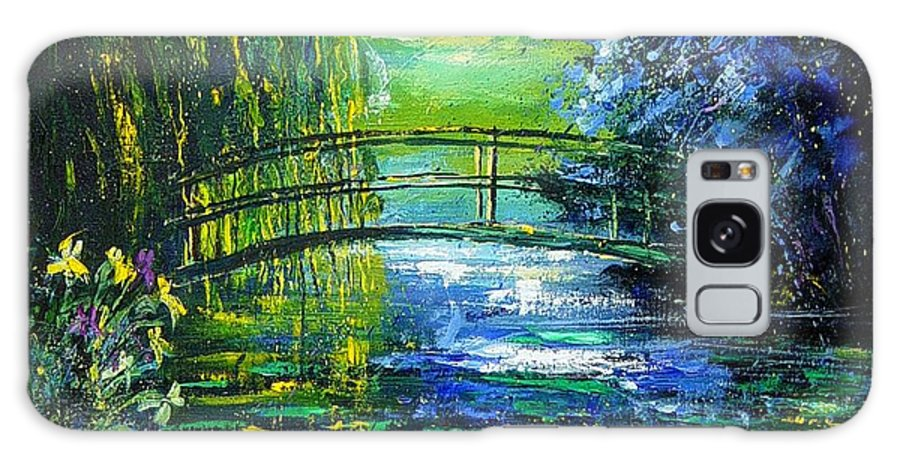 Pond Galaxy S8 Case featuring the painting After Monet by Pol Ledent