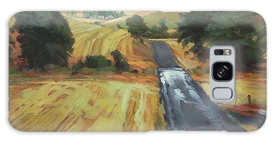 Country Galaxy S8 Case featuring the painting After The Harvest Rain by Steve Henderson