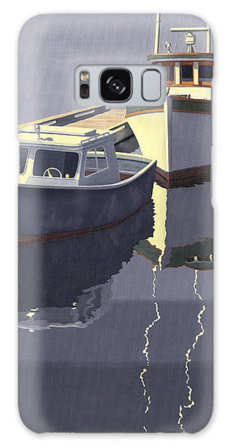 Boat Galaxy Case featuring the painting After The Rain by Gary Giacomelli