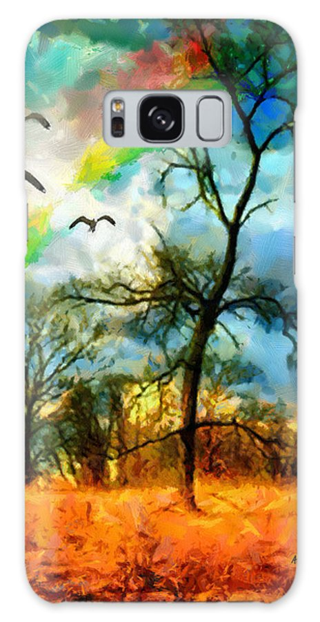 Landscape Galaxy S8 Case featuring the painting After The Storm by Anthony Caruso