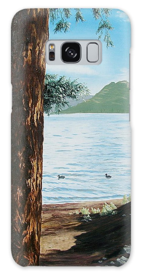 Tree Galaxy S8 Case featuring the painting Afternoon Invitation by Bonnie Heather