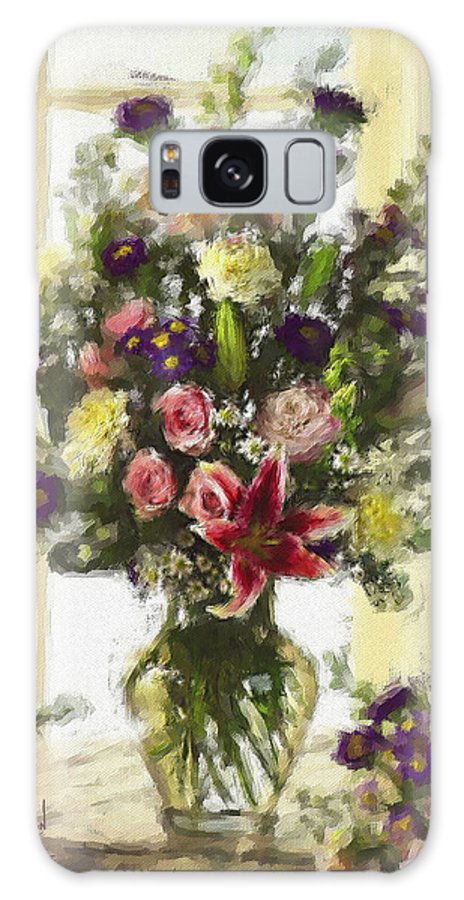 Flowers Galaxy S8 Case featuring the digital art Afternoon Kissed Of Color by Stephen Lucas