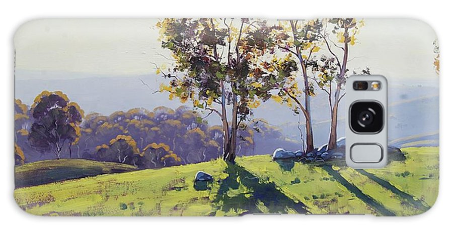 Nature Galaxy Case featuring the painting Afternoon Light Cuthill Road by Graham Gercken