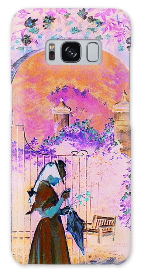 Rose Galaxy S8 Case featuring the painting Afternoon Stroll by Jean Hildebrant