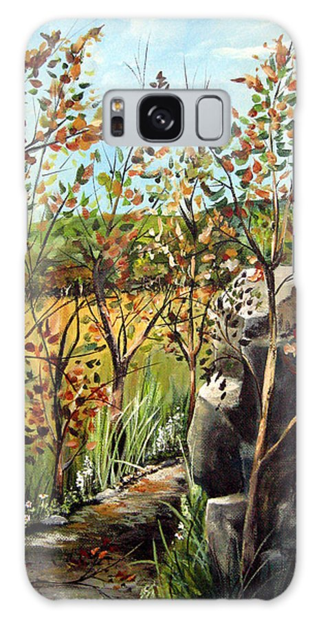 Galaxy Case featuring the painting Afternoon Stroll by Ruth Palmer