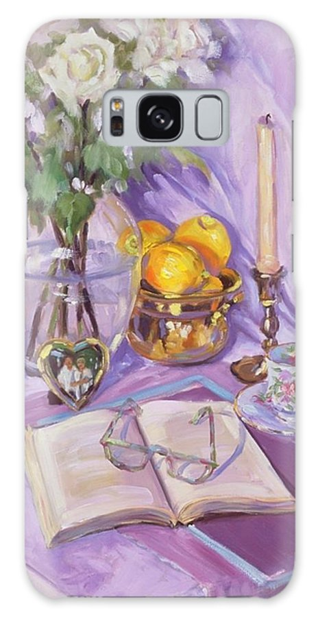 Still Life Galaxy Case featuring the painting Afternoon Tea by Laura Lee Zanghetti