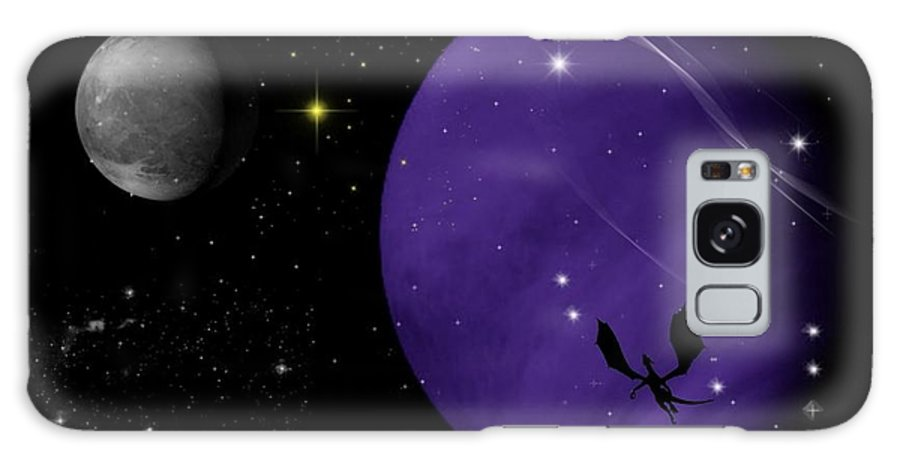 Dragon Galaxy Case featuring the digital art Again They Rise by Rhonda Barrett