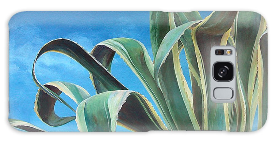 Floral Painting Galaxy Case featuring the painting Agave by Muriel Dolemieux
