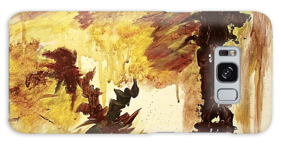 Abstract Galaxy S8 Case featuring the painting Age Of The Fall by Itaya Lightbourne