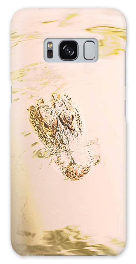 Alligator Galaxy S8 Case featuring the photograph Aged Alligator by Jennifer Kelly