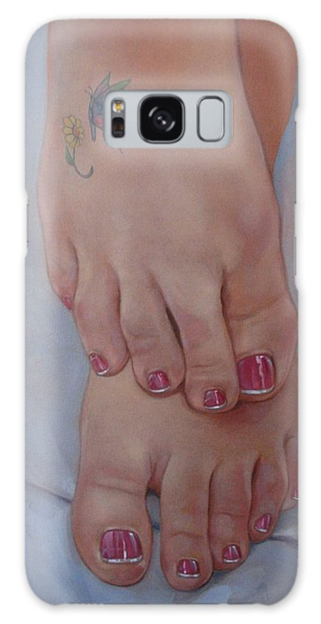 Pretty Feet Galaxy S8 Case featuring the painting Aimee by Jerrold Carton